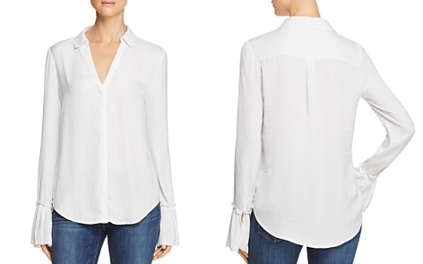 PAIGE Abriana Pleated-Cuff Shirt - Bloomingdale's_2