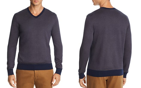 The Men's Store at Bloomingdale's V-Neck Chevron Sweater - 100% Exclusive_2