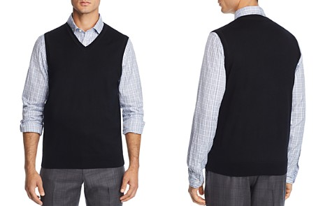The Men's Store at Bloomingdale's V-Neck Merino Wool Vest - 100% Exclusive_2