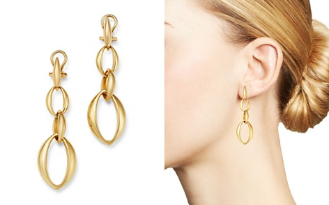 Slim Oval Drop Earrings in 14K Yellow Gold - 100% Exclusive - Bloomingdale's_2