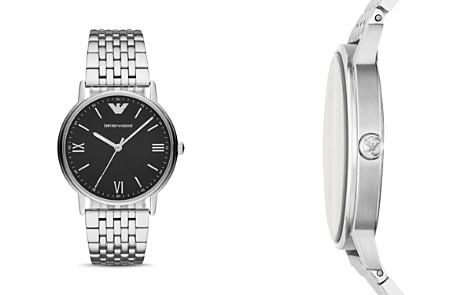 Emporio Armani Stainless Steel Black Dial Watch, 41mm - Bloomingdale's_2