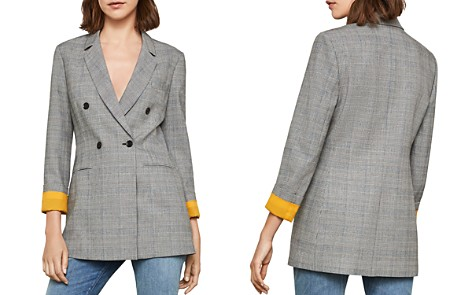 BCBGMAXAZRIA Glen Plaid Double-Breasted Blazer - Bloomingdale's_2