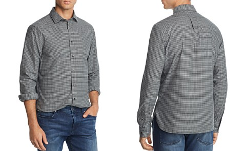 The Men's Store at Bloomingdale's Plaid Broadcloth Slim Fit Shirt - 100% Exclusive_2