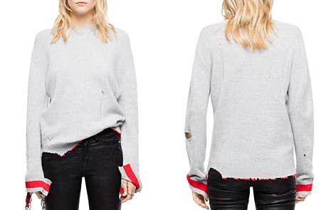 Zadig & Voltaire Jack Distressed Cashmere Sweater - Bloomingdale's_2