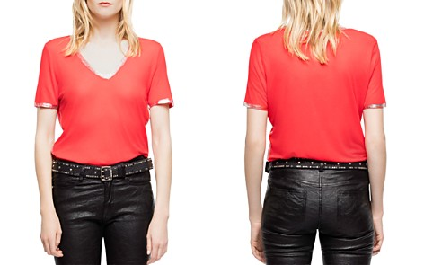 Zadig & Voltaire Tino Foil-Trim Tee - Bloomingdale's_2
