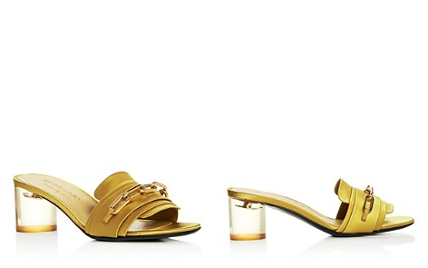 Burberry Women's Coleford Satin Mid-Heel Slide Sandals - Bloomingdale's_2