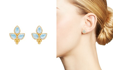 Temple St. Clair 18K Yellow Gold Foglia Trio Blue Moonstone Earrings - Bloomingdale's_2