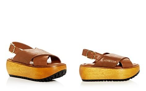 Marni Women's Leather Crisscross Slingback Platform Sandals - Bloomingdale's_2