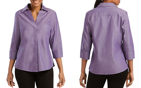Foxcroft Concealed Button-Down Top - Bloomingdale's_2