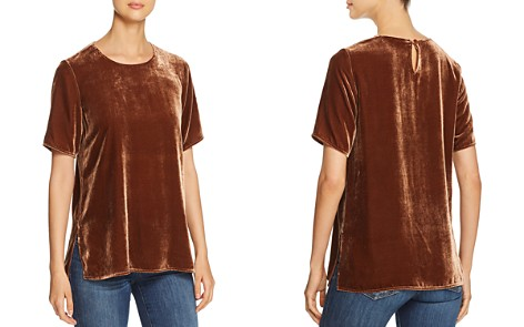 Eileen Fisher Short-Sleeve Velvet Tee - Bloomingdale's_2