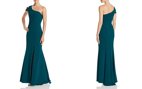 Avery G Double-Strap One-Shoulder Gown - Bloomingdale's_2