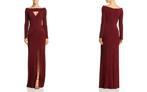 Tadashi Shoji Ruched Jersey Pintuck Gown - Bloomingdale's_2