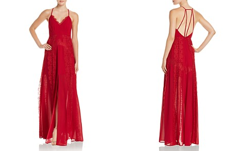 Aijek Chiffon Strappy Open-Back Maxi Dress - 100% Exclusive - Bloomingdale's_2