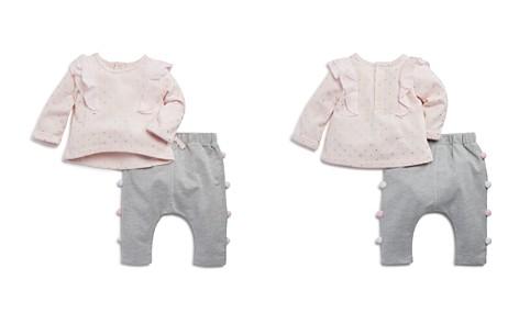 Miniclasix Girls' Ruffled Metallic-Polka-Dot Top & Pom-Pom Pants Set - Baby - Bloomingdale's_2