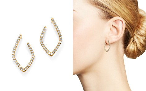 Bloomingdale's Diamond Front-to-Back Rhombus Earrings in 14K Yellow Gold, 1.0 ct. t.w. - 100% Exclusive_2