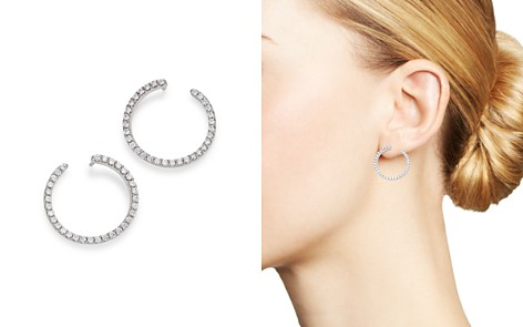 Bloomingdale's Diamond Full Circle Earrings in 14K White Gold, 0.50 ct. t.w. - 100% Exclusive_2