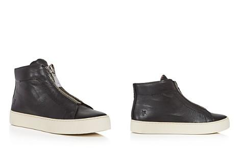 Frye Women's Lena Zip Up Leather High Top Sneakers - Bloomingdale's_2