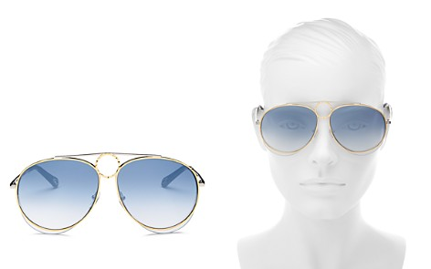 Chloé Women's Romie Mirrored Aviator Sunglasses, 61mm - Bloomingdale's_2