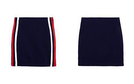 AQUA Girls' Textured Athletic-Stripe Skirt, Big Kid - 100% Exclusive - Bloomingdale's_2
