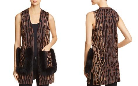 Kobi Halperin Ginnette Fur-Trimmed Animal Print Sweater Vest - Bloomingdale's_2
