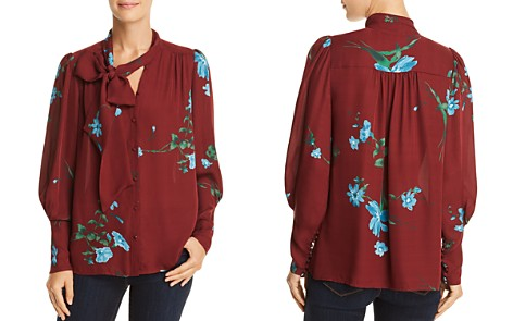 Joie Angeletta Tie-Neck Silk Top - Bloomingdale's_2