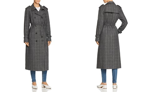Equipment Everton Checkered Trench Coat - Bloomingdale's_2