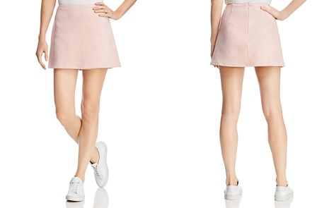 FRENCH CONNECTION Suedette A-Line Mini Skirt - Bloomingdale's_2