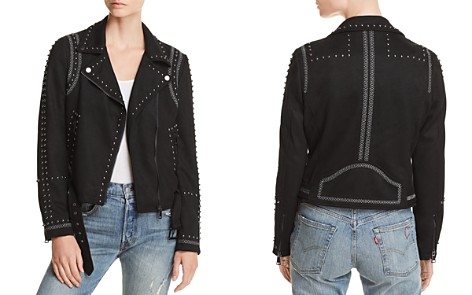 AQUA Studded Faux Suede Moto Jacket - 100% Exclusive - Bloomingdale's_2