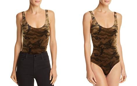 Honey Punch Camo Velvet Bodysuit - Bloomingdale's_2