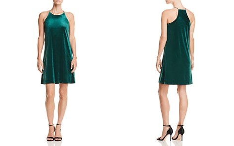 AQUA Velvet Shift Dress - 100% Exclusive - Bloomingdale's_2