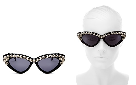 Moschino Women's Studded Cat Eye Sunglasses, 59mm - Bloomingdale's_2