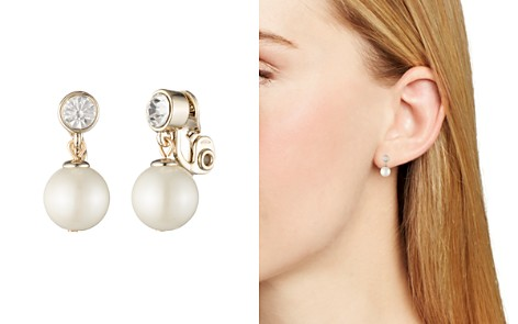 Lauren Ralph Lauren Simulated Pearl Clip-On Earrings - Bloomingdale's_2