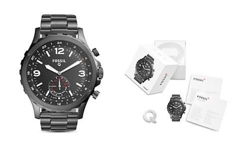 Fossil Q Nate Gunmetal-Tone Hybrid Smartwatch, 50mm - Bloomingdale's_2