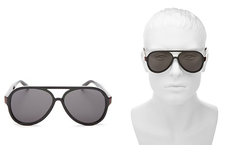 Gucci Men's Flat Top Aviator Sunglasses, 57mm - Bloomingdale's_2