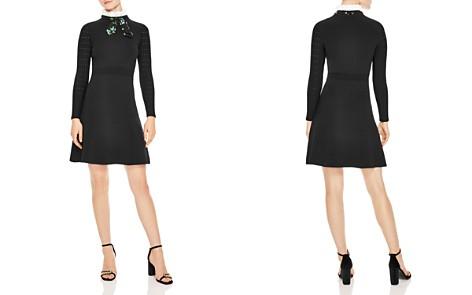 Sandro Clémence Tie-Neck A-Line Dress - Bloomingdale's_2