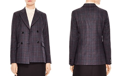 Sandro Oscar Plaid Double-Breasted Blazer - Bloomingdale's_2