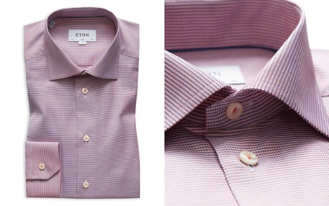 Eton Textured Solid Slim Fit Dress Shirt - Bloomingdale's_2