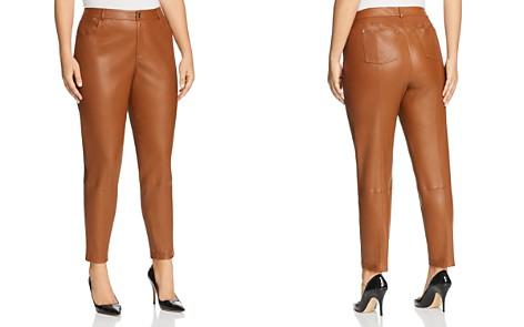 Lafayette 148 New York Plus Mercer Leather Pants - Bloomingdale's_2