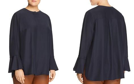 Lafayette 148 New York Plus Izzie Silk Bell-Sleeve Blouse - Bloomingdale's_2