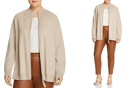 Lafayette 148 New York Plus Wool Zip-Front Cardigan - Bloomingdale's_2