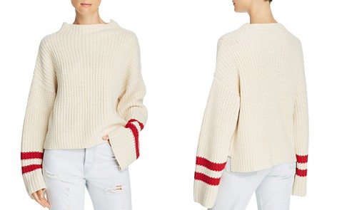 Lost + Wander Mulberry Stripe-Sleeve Sweater - Bloomingdale's_2