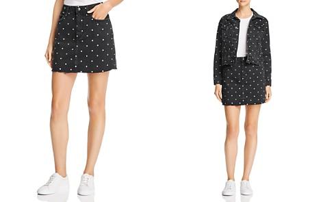 Current/Elliott Polka Dot Denim Mini Skirt - Bloomingdale's_2