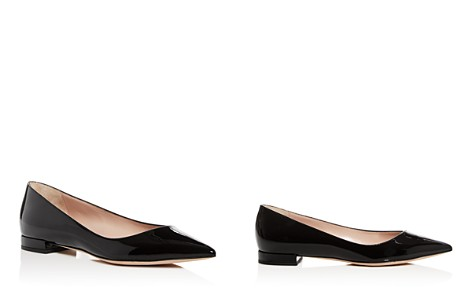 Giorgio Armani Women's Patent Leather Pointed Toe Ballet Flats - Bloomingdale's_2