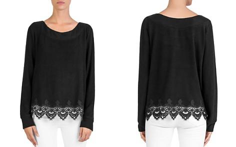 The Kooples Fleece Lace-Trim Sweatshirt - Bloomingdale's_2