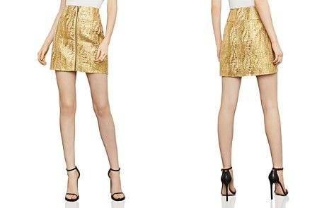 BCBGMAXAZRIA Metallic Jacquard Mini Skirt - Bloomingdale's_2