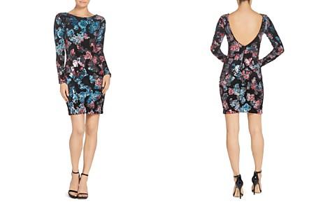 Dress the Population Lola Velvet & Sequined Floral Print Mini Dress - Bloomingdale's_2