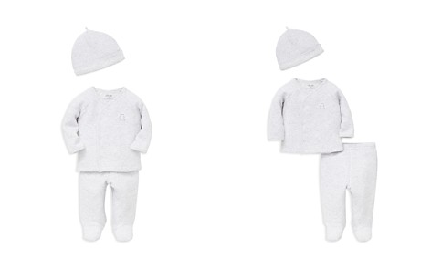 Little Me Unisex Quilted Teddy Bear Shirt, Footie Pants & Hat Set - Baby - Bloomingdale's_2