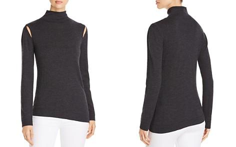 Elie Tahari Marcellia Slit Shoulder Sweater - Bloomingdale's_2