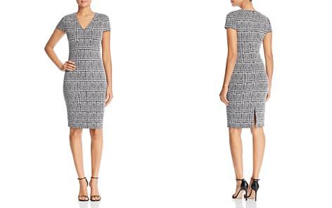 MICHAEL Michael Kors Fitted Plaid Jacquard Dress - Bloomingdale's_2