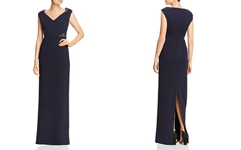 Adrianna Papell Embellished Crepe Cap-Sleeve Gown - Bloomingdale's_2